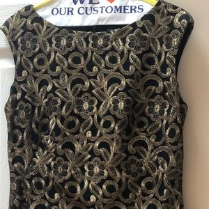 Ralph Lauren Dresses - Ralph Lauren Gold Brocade Dress Size 8